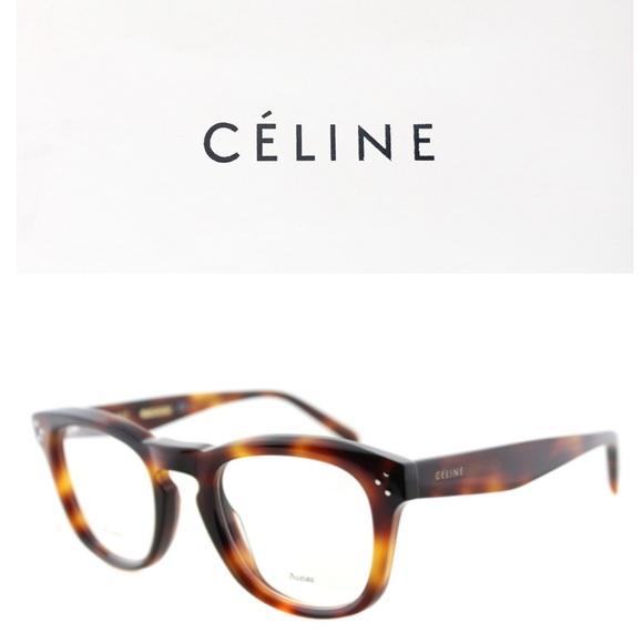 9ded7cf380f3c Celine Tortoise bevel square eyeglasses